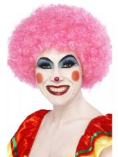 Clown Wig In Pink